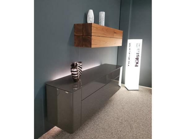 Sideboard hängend GENTIS mit Akzentelement Kernnussbaum 03