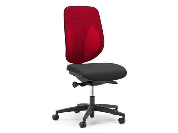 GIROFLEX Bürostuhl schwarz - rot 01