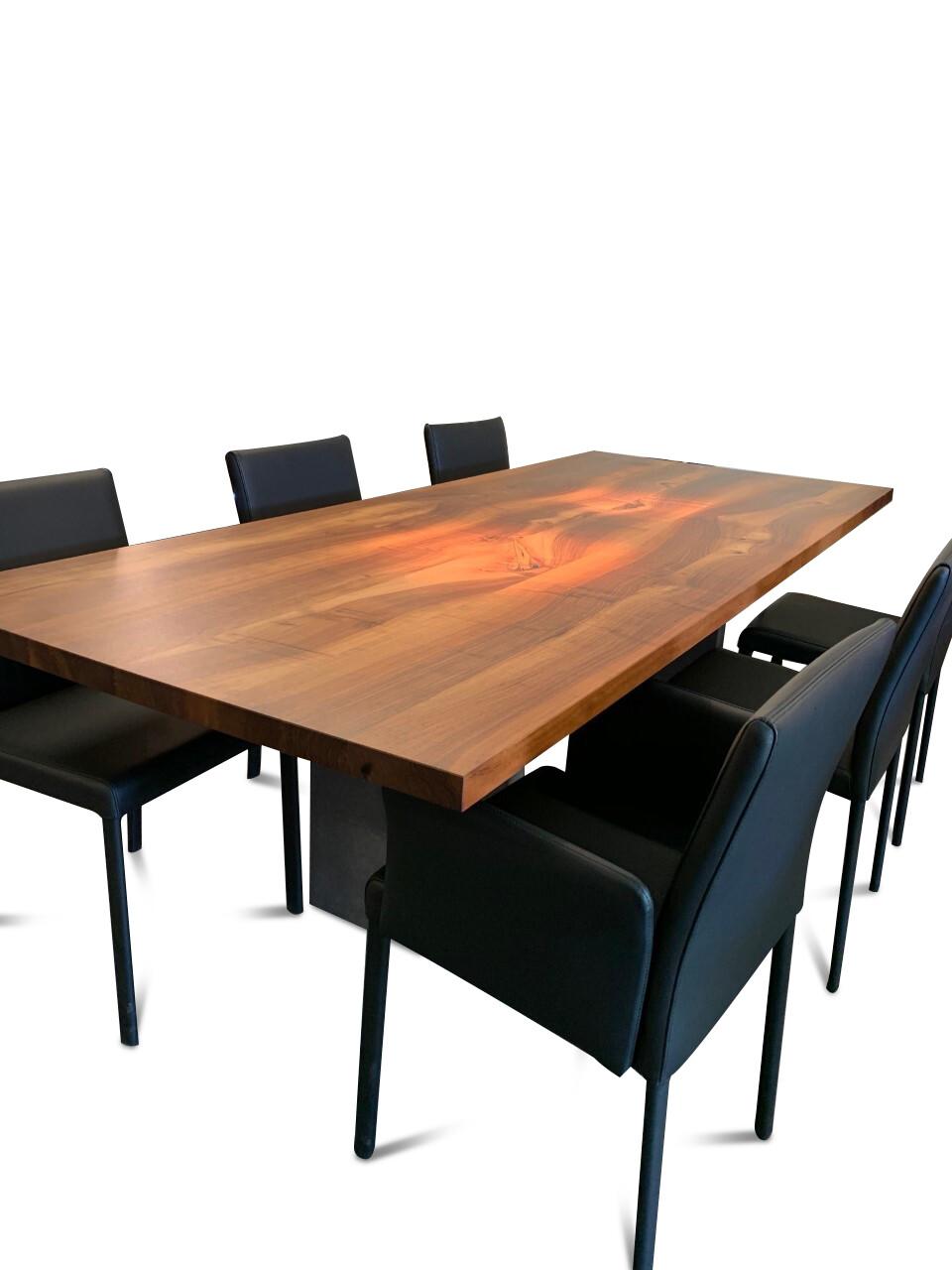 Tisch Europ. Nussbaum massiv Modell Henry von Girsberger 100 x 240 cm 07