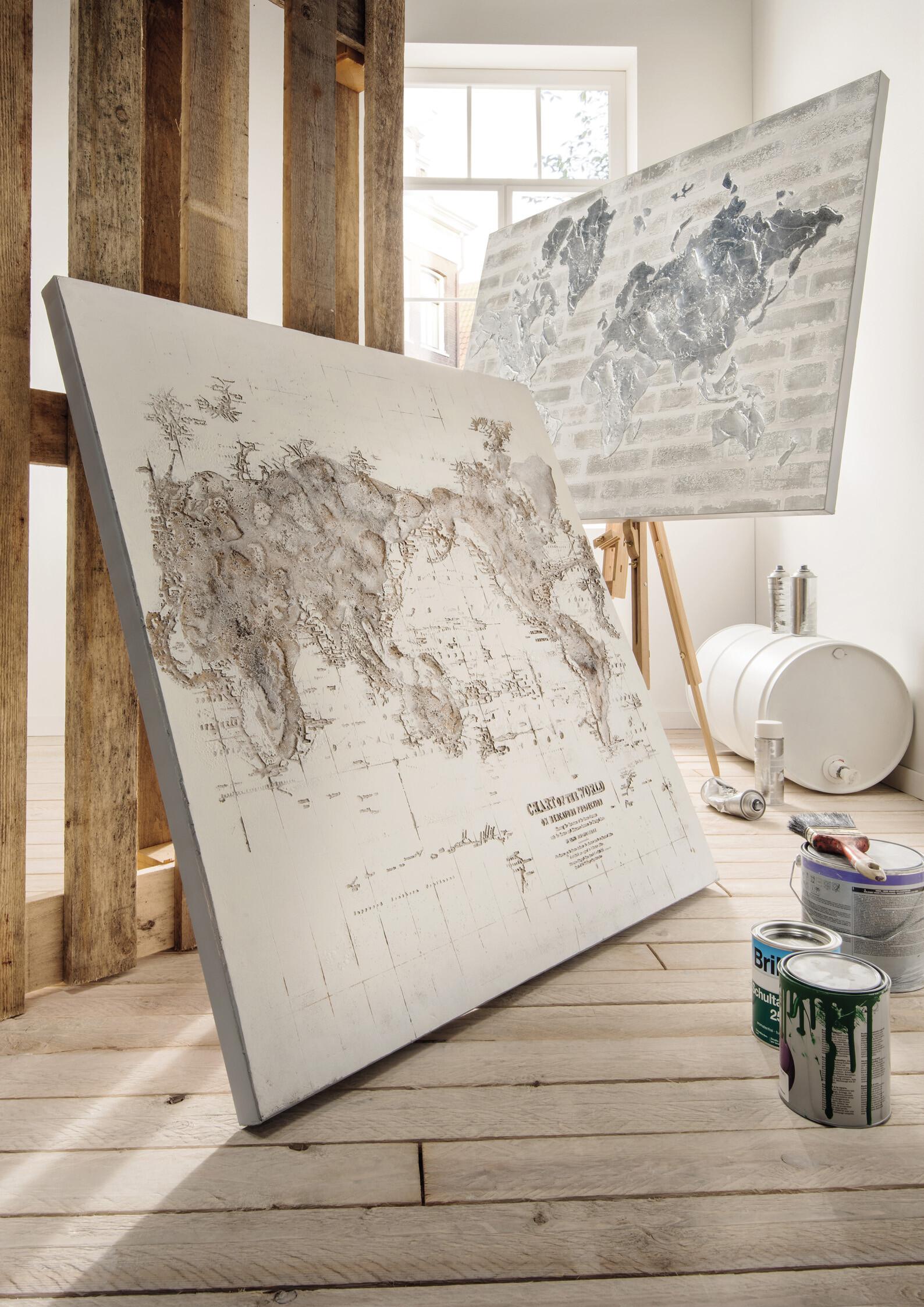 Wandbild Weltkarte  02