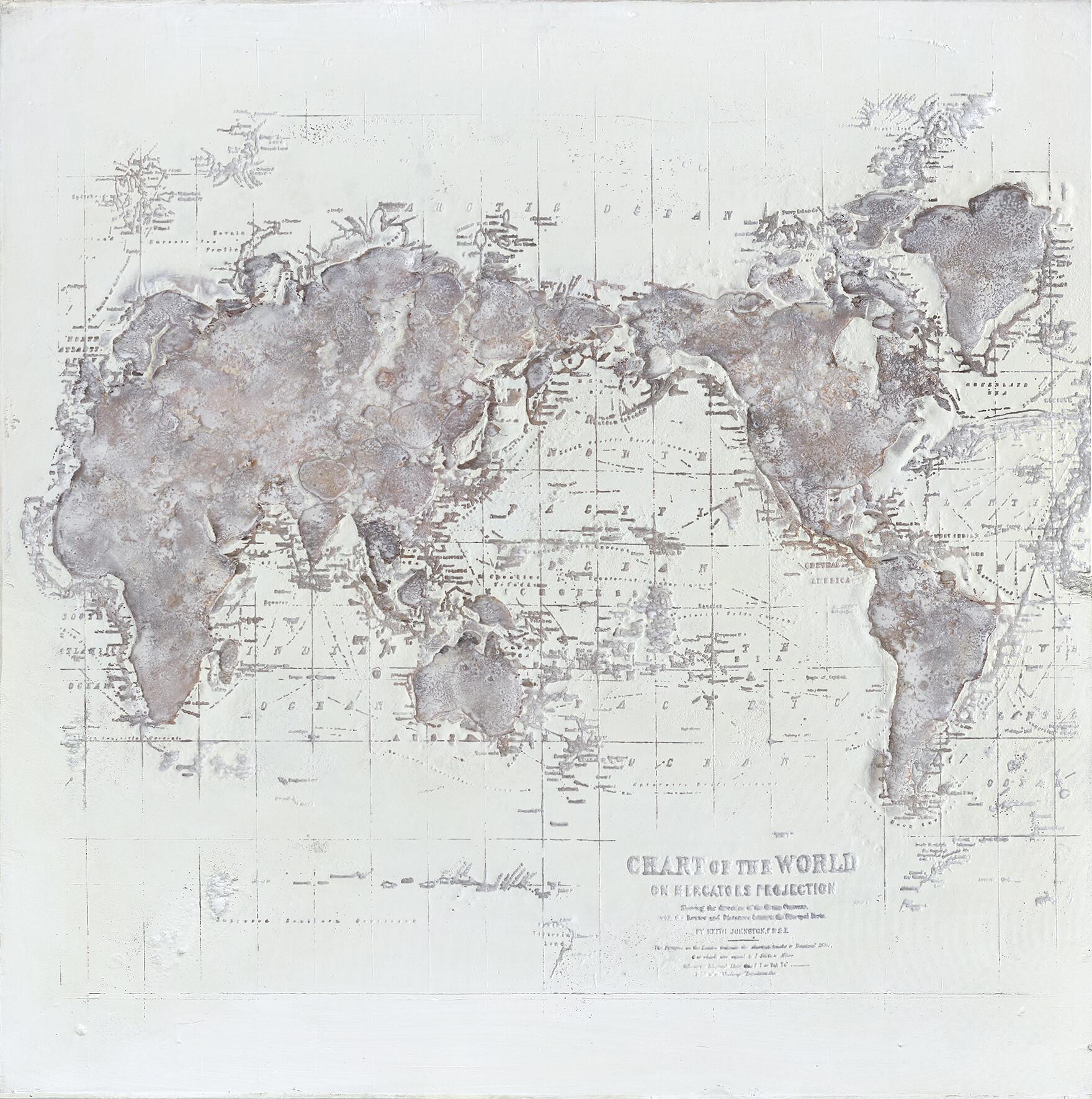 Wandbild Weltkarte  01