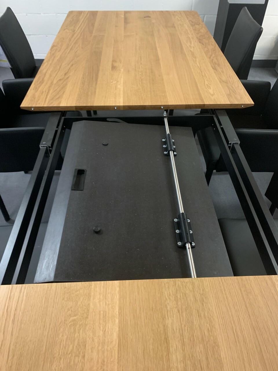 Tisch massiv Modell Anton in Wildeiche 100 x 180 cm mit Auszug 70 cm 05