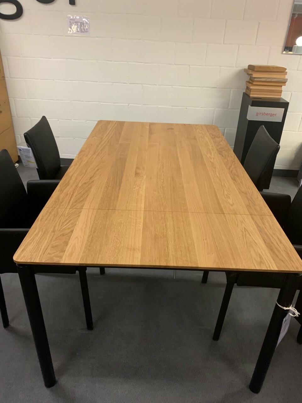 Tisch massiv Modell Anton in Wildeiche 100 x 180 cm mit Auszug 70 cm 07