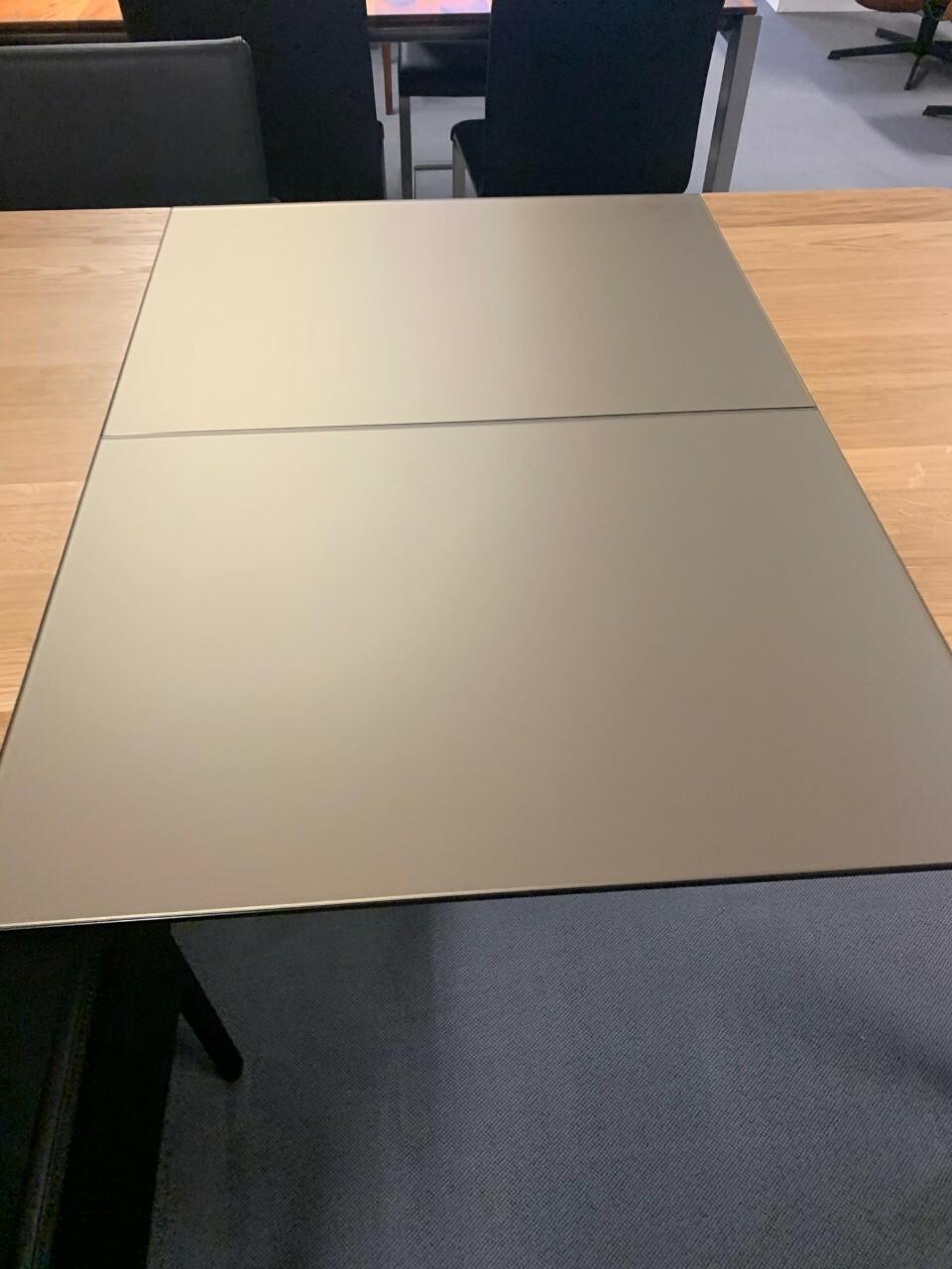 Tisch massiv Modell Anton in Wildeiche 100 x 180 cm mit Auszug 70 cm 11