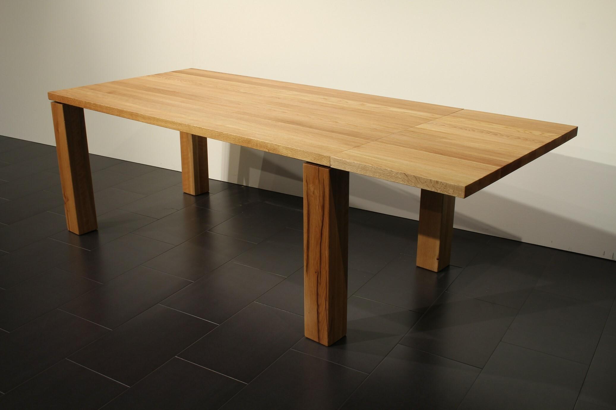 Massivholztisch Elda mit Ansteckplatte 180+50 x 95 cm Lüönd 04
