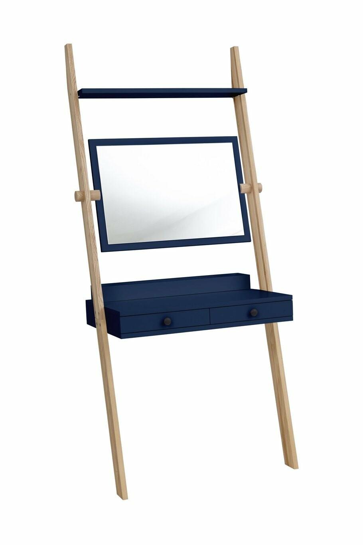 Solovivo Exclusiv! Leno Leiterregal Schreibtisch mit Schiefertafel 09