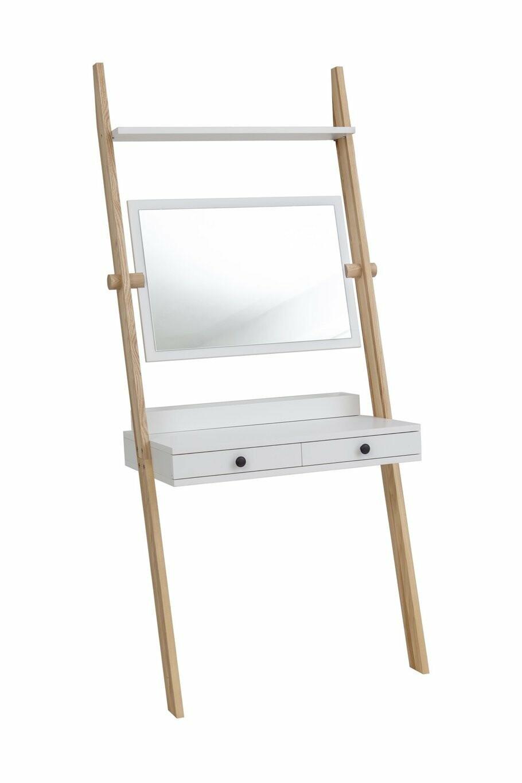 Leno Leiterregal Schreibtisch/Schminktisch mit Spiegel 08