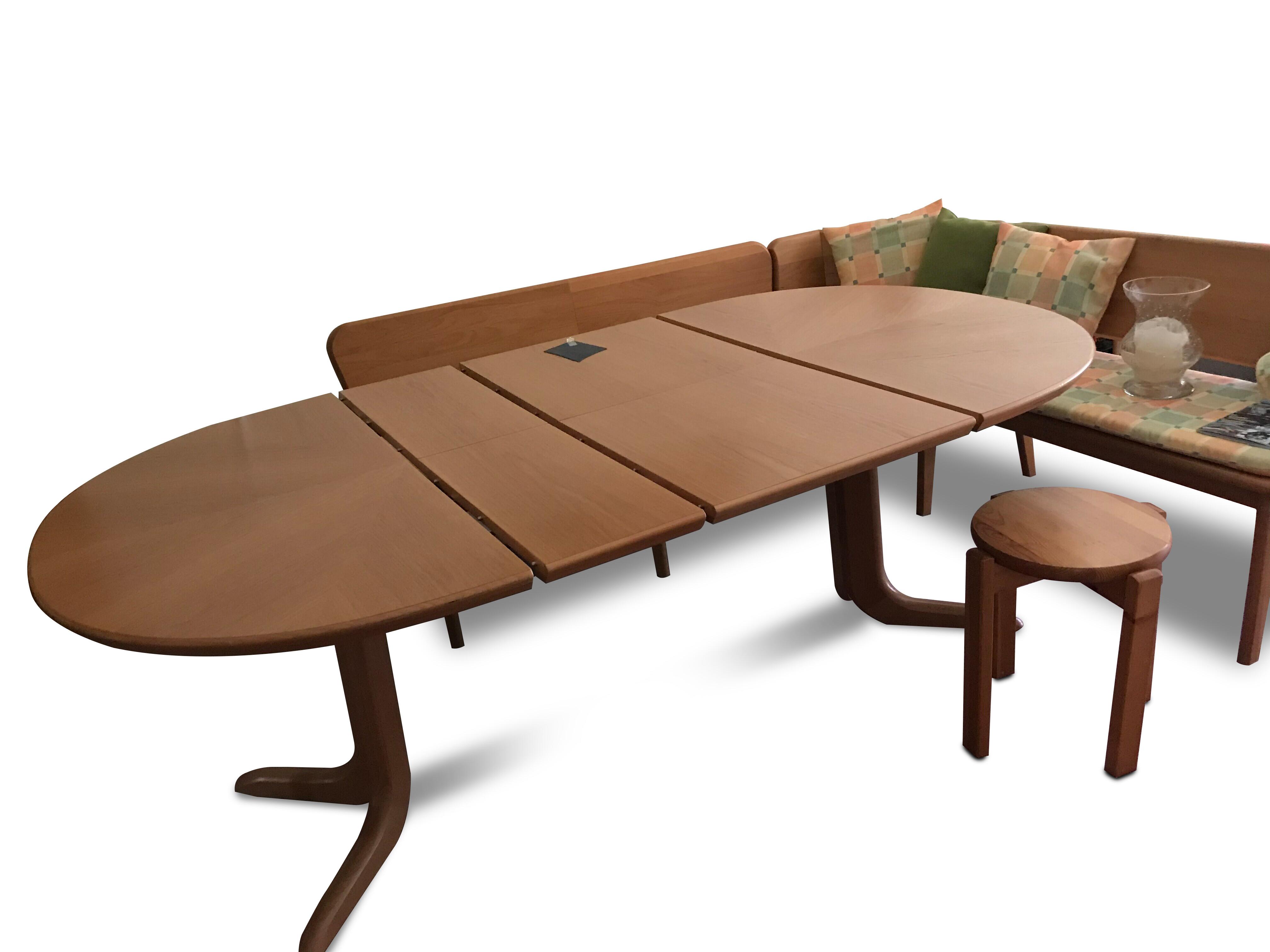 Eckbank und Tisch ausziehbar in Holz (Swiss made) 05