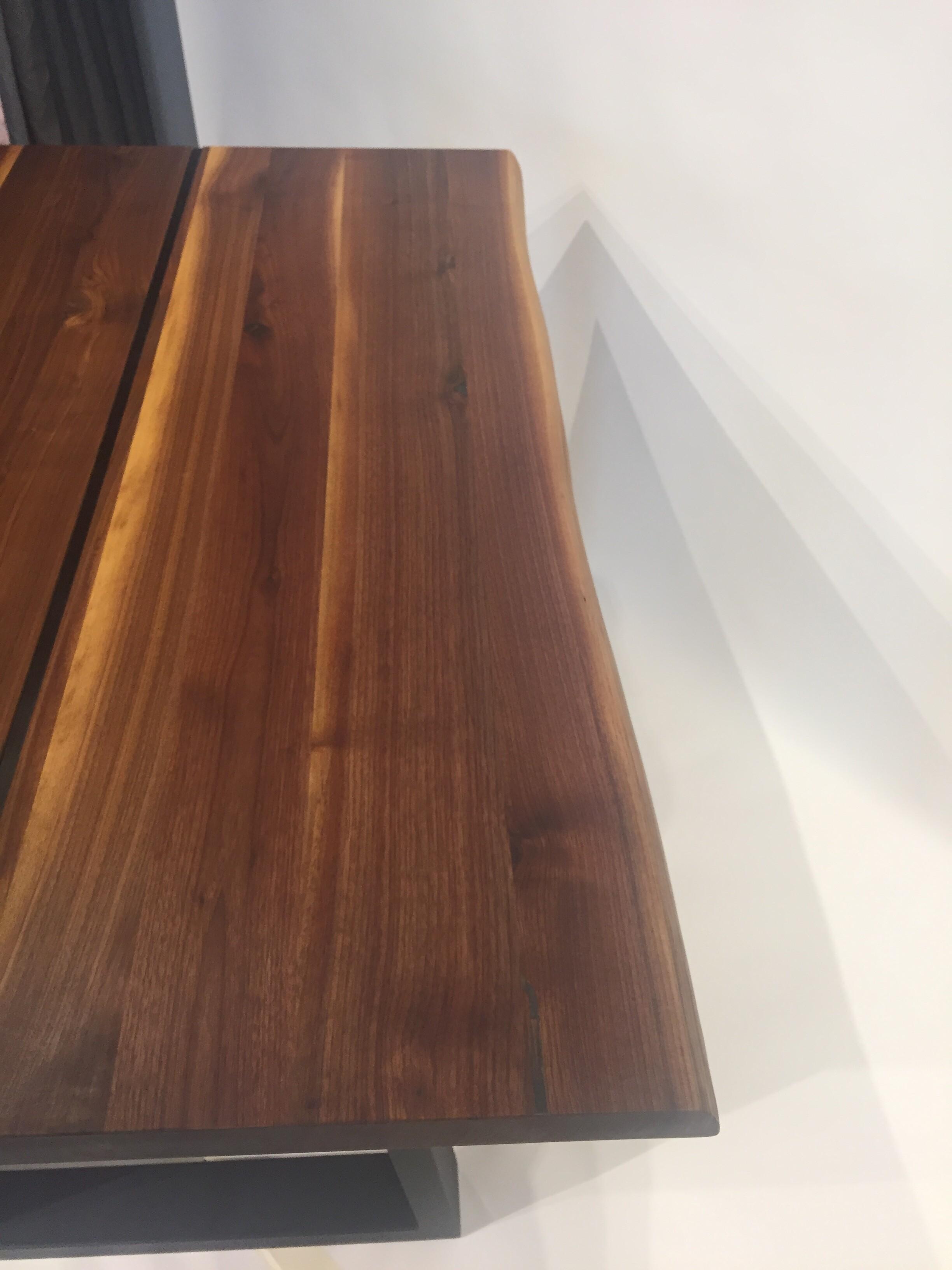 Massivholztisch Küche / Schreibtisch 120 x 80 cm Lüönd 02