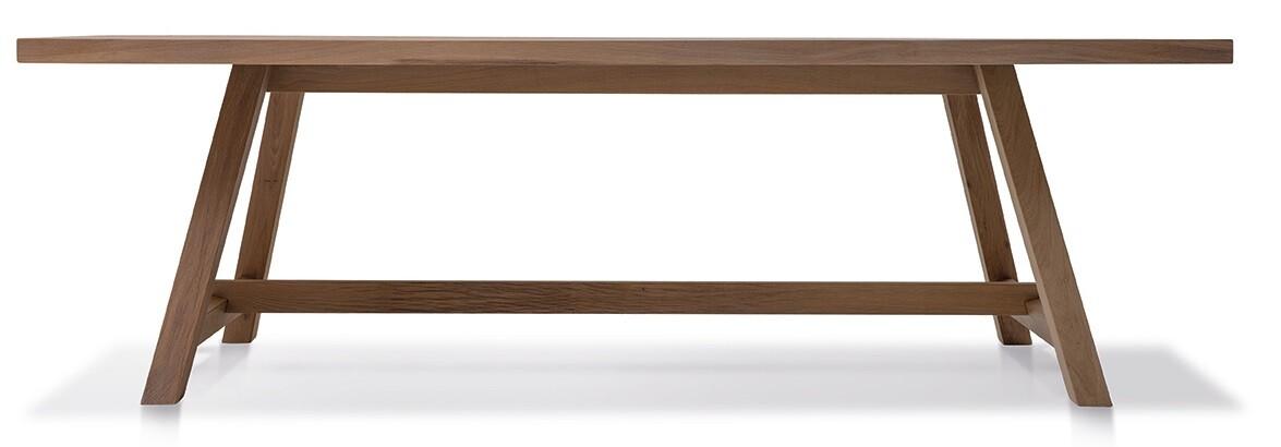 Massivholztisch Herkules Ast-Eiche bianco 240 x 100 cm Lüönd 02