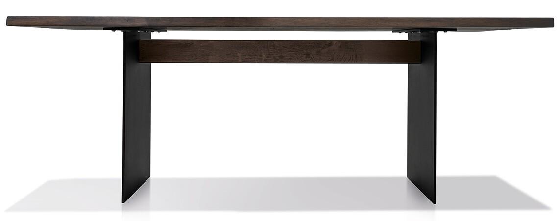 Massivholztisch Herkules Ast-Eiche geräuchert 200 x 100 cm Lüönd 03