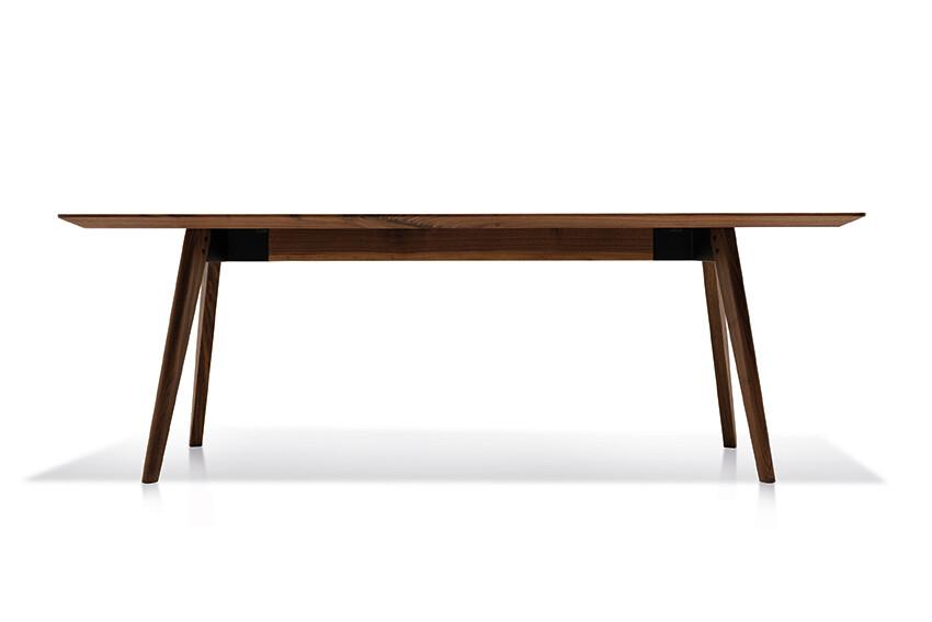 Massivholztisch Style Amerik. Nussbaum 220 x 108 cm Lüönd 02