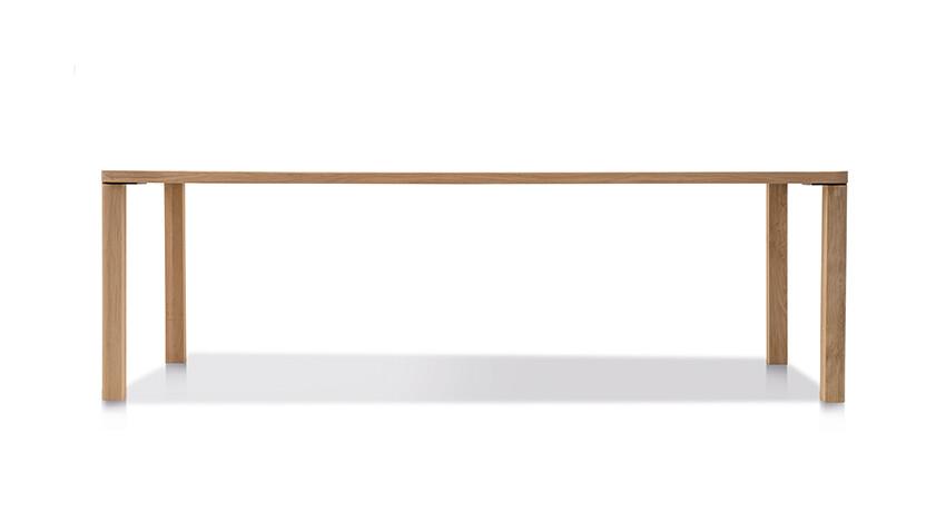 Massivholztisch Style Ast-Eiche Bianco 240 x 95 cm Lüönd 02