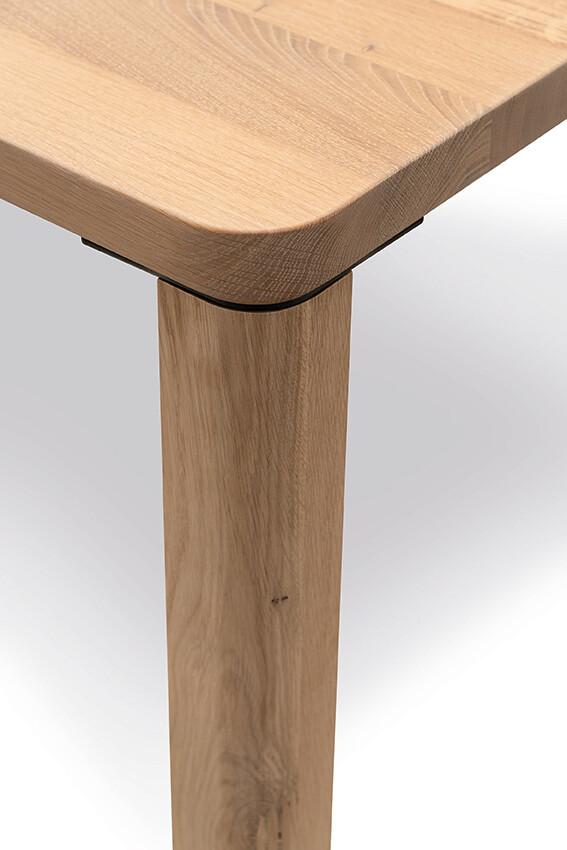 Massivholztisch Style Ast-Eiche Bianco 240 x 95 cm Lüönd 03