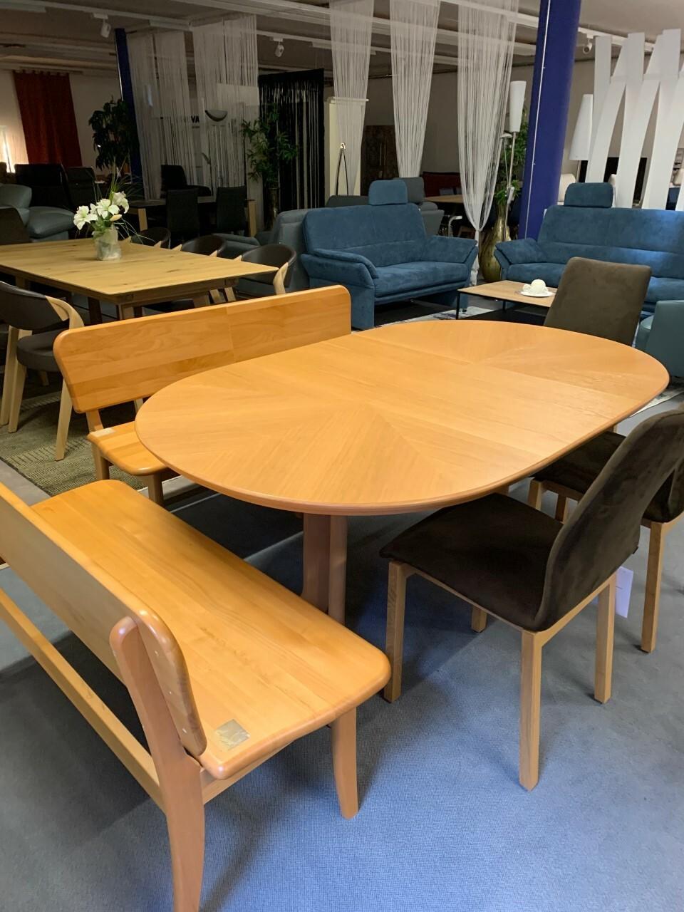 Eckbank und Tisch ausziehbar in Holz (Swiss made) 02