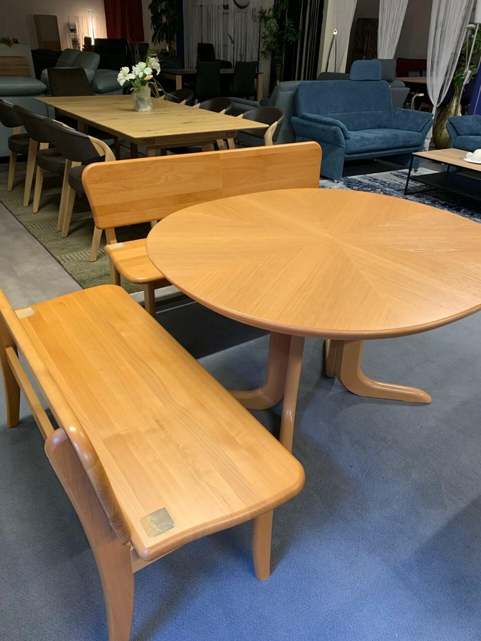 Eckbank und Tisch ausziehbar in Holz (Swiss made) 07