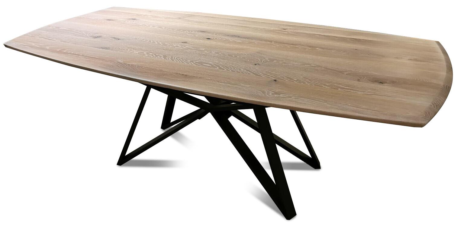 Massivholztisch Style Ast-Eiche bianco 220 x 108 cm Lüönd 04
