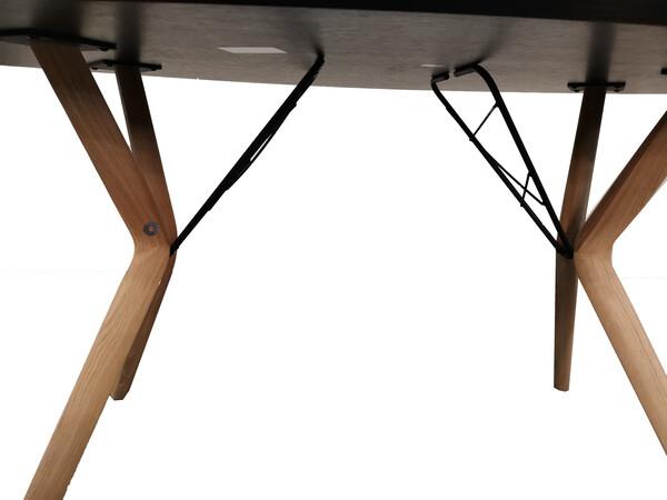 Esstisch ECLIPSE oval in Eiche 100 x 180 cm 03