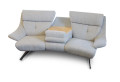 Trapezsofa Easy-Comfort  in Stoff silber