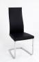 REBECCA Stuhl mit Lederbezug Schwarz