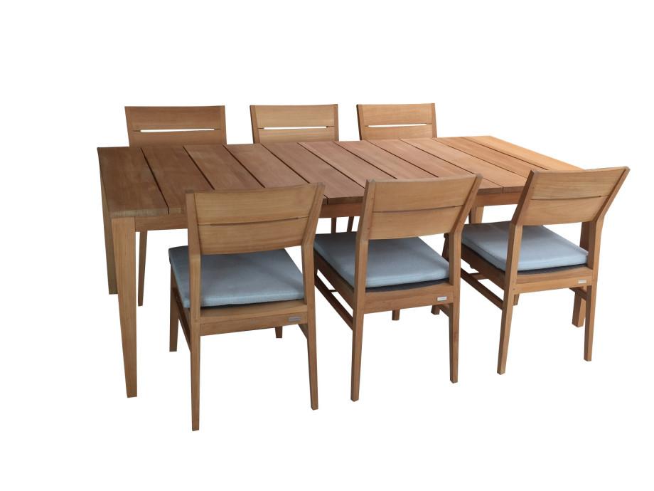 Gartentisch Mit Sechs Stühlen.Twizt Gartentisch Teak Mit 6 Stühlen Solovivo