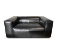 Sessel-Sofa Dakota schwarz (2er Sitz)