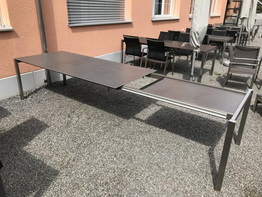 Auszugstisch Mano 210 - 330cm Keramik Beton dunkel 06