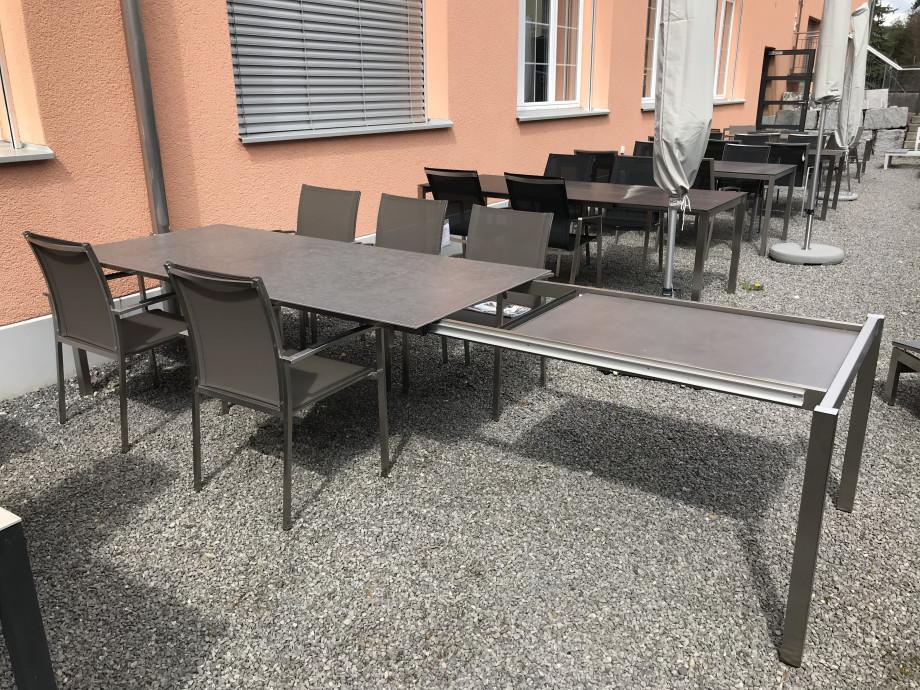 Auszugstisch Mano 210 - 330cm Keramik Beton dunkel 04