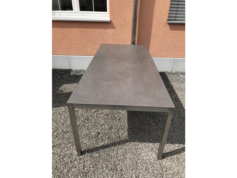 Auszugstisch Mano 210 - 330cm Keramik Beton dunkel 10