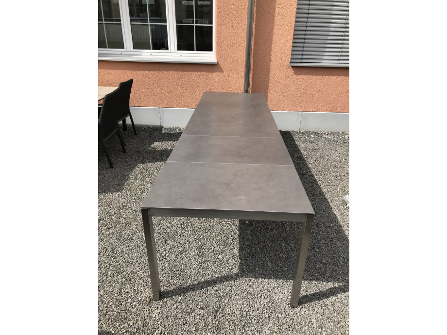 Auszugstisch Mano 210 - 330cm Keramik Beton dunkel 07