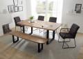 Moderne Tischgruppe mit Tisch, Bank und 4 Stühlen