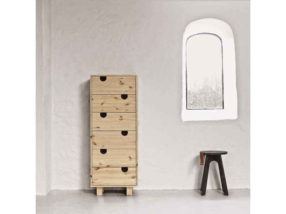 Kommode House, 6 Schubladen Holzfront 02