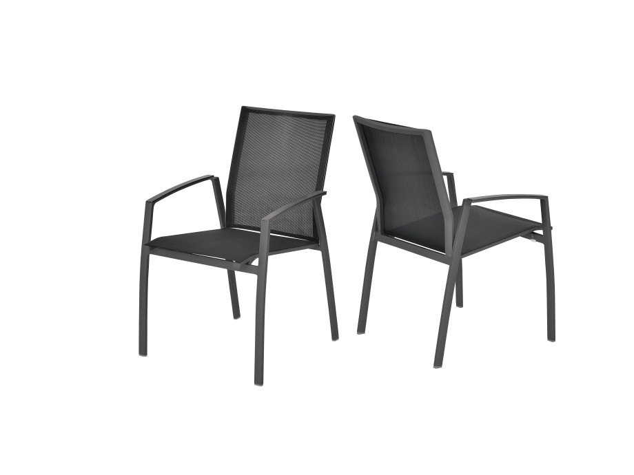 Gartenstuhl ARGENTINA (4 Stk) eisengrau/schwarz 02