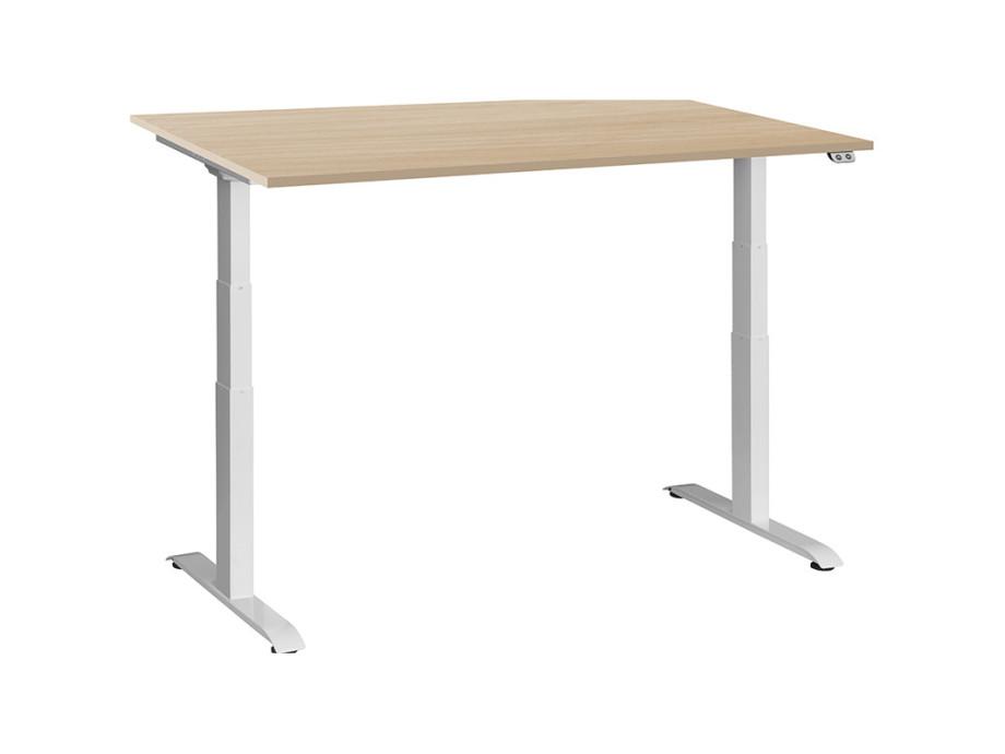 Schreibtisch / Stehpult elektrisch höhenverstellbar, Gestell weiss 05
