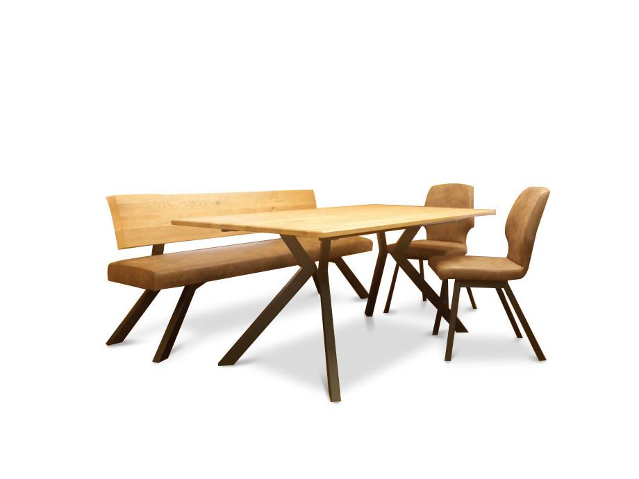 Tisch mit 2 Stühle und Sitzbank Schösswender Modell 300/921 03