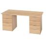 Schreibtisch mit 2 Korpussen Eiche