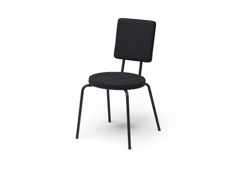 """Stuhl """"Option"""" Sitz rund, Lehne eckig 03"""