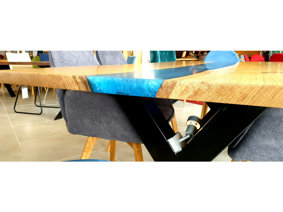 Galaxy River Blue Table mit Epoxid 02