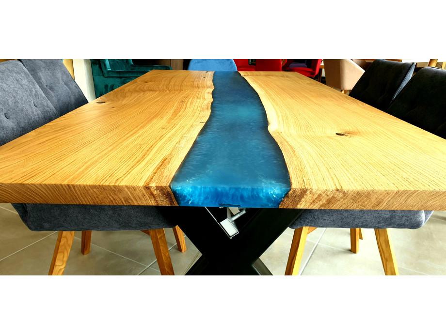 Galaxy River Blue Table mit Epoxid 04