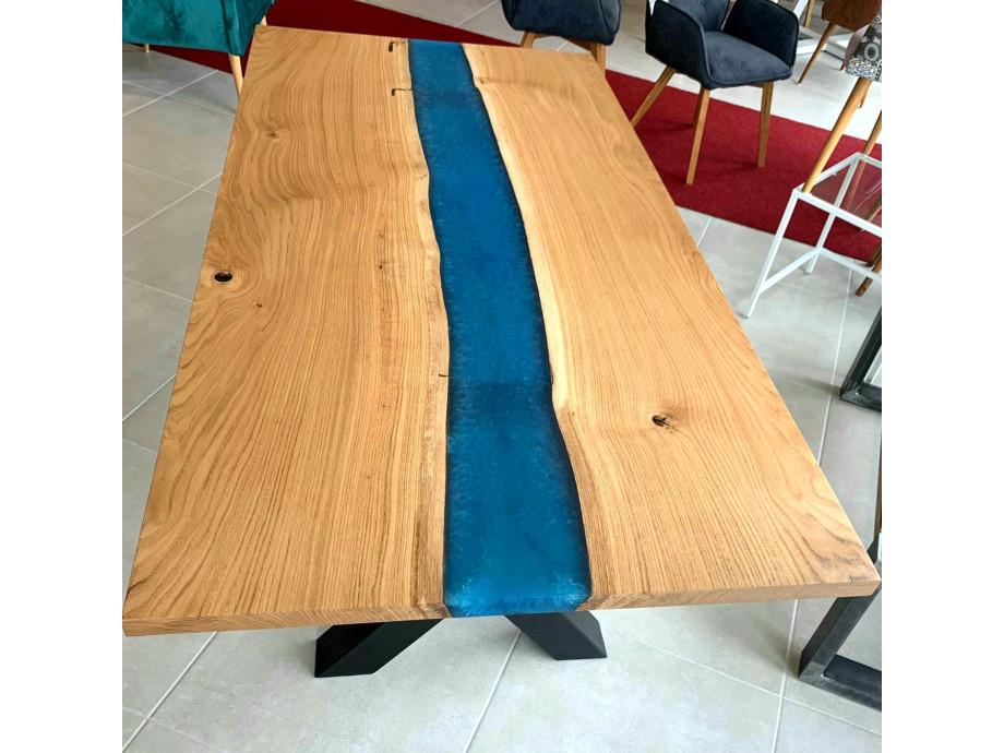 Galaxy River Blue Table mit Epoxid 07