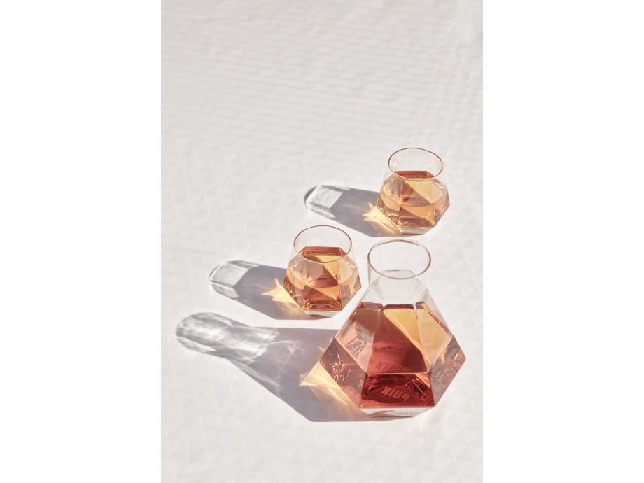 Karaffe Rare & 2 Kristallgläser  17