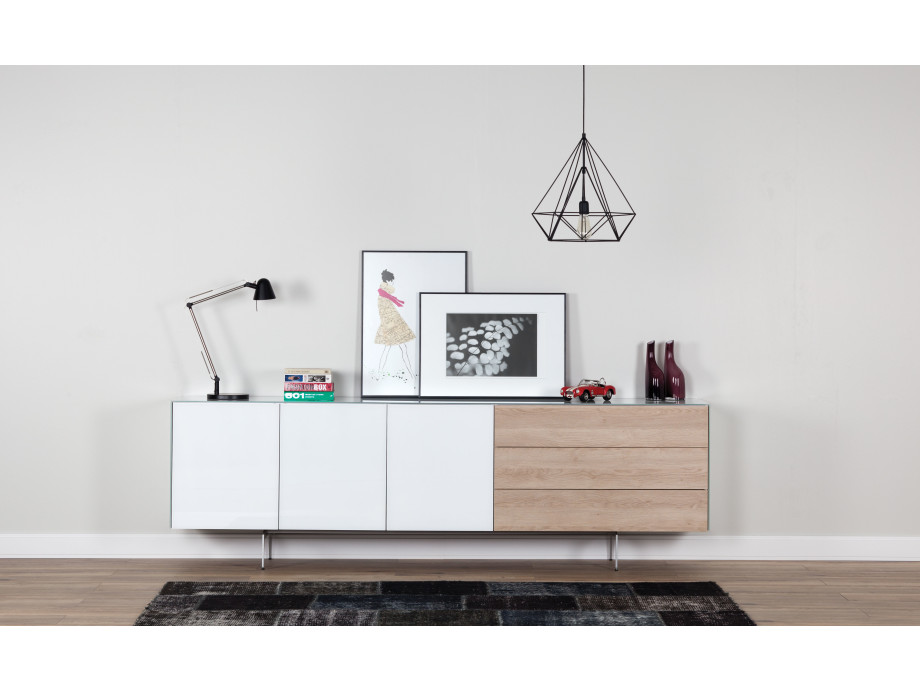 Sideboard Sonorous Elements, Kommode Kombination SB-K1, B=250cm / H=80cm 01