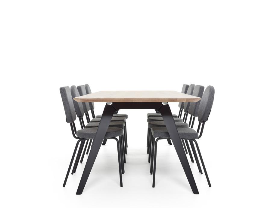 Esstisch Fold Eichenholz 200 x 95 / Gestell Stahl Schwarz  07