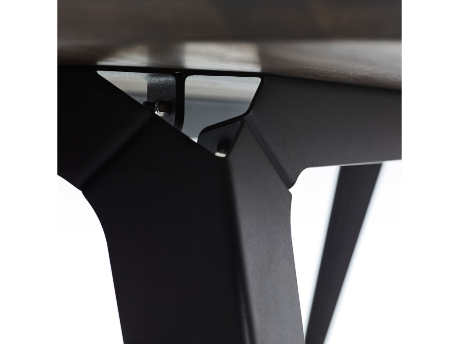 Esstisch Fold Eichenholz 200 x 95 / Gestell Stahl Schwarz  03