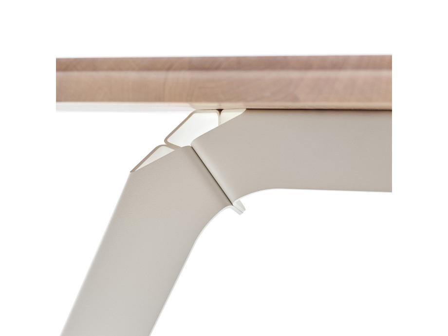 Esstisch Fold Eichenholz 200 x 95 / Gestell Stahl Weiss 05
