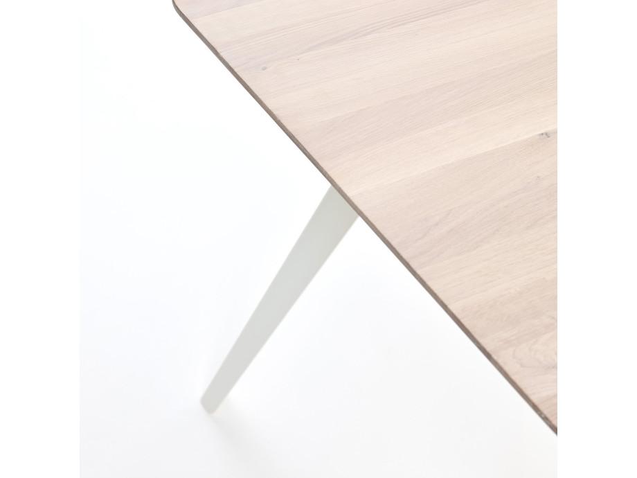 Esstisch Fold Eichenholz 200 x 95 / Gestell Stahl Weiss 04