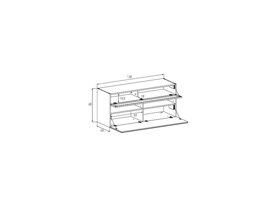 Sideboard Sonorous Elements, Kommode Kombination SB F451, B=325cm / H=63cm 05