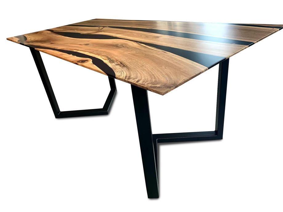 Esstisch Black Walnut River  Table mit Epoxid 10