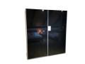 Armoire Jutzler avec portes en verre noir