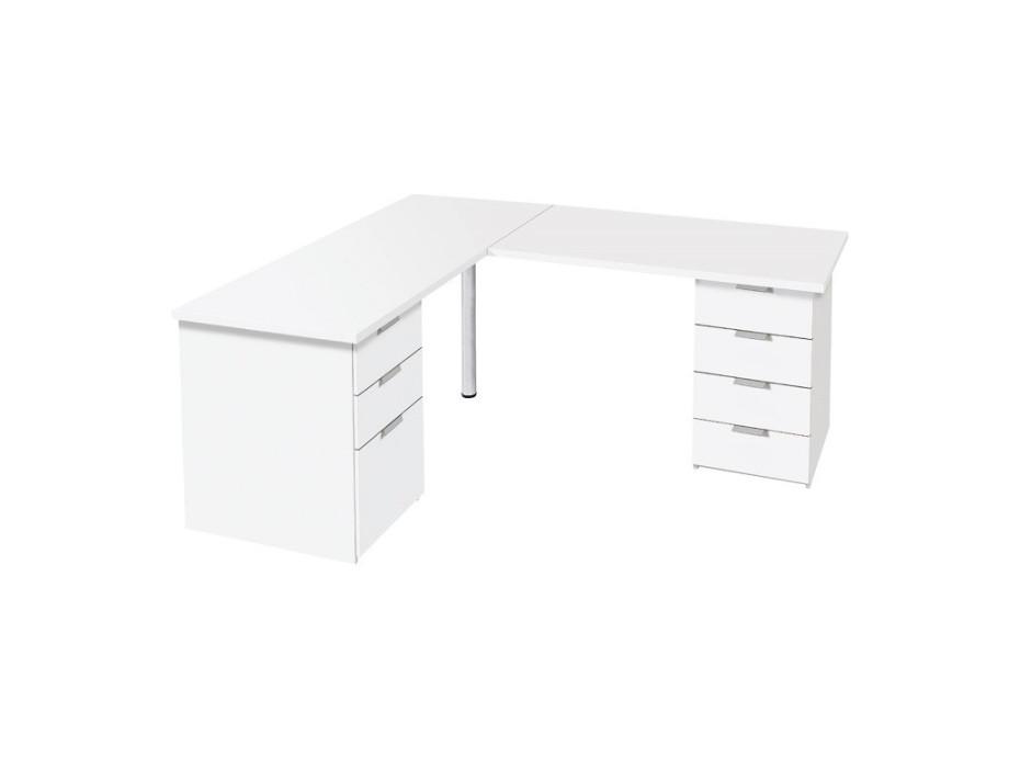 Schreibtisch mit Eckelement 01